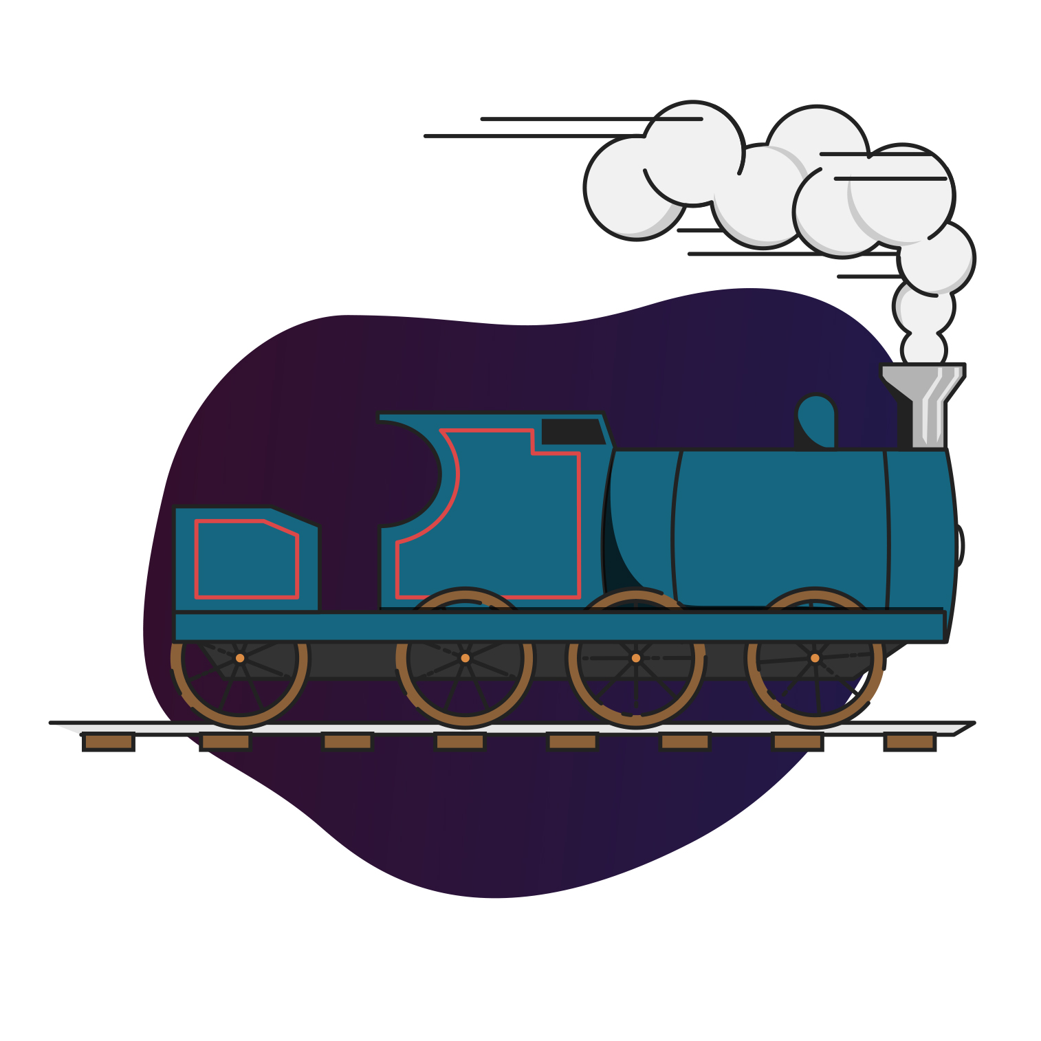Train graphic